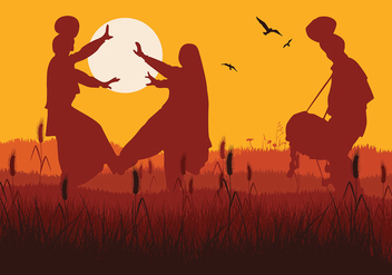 Bhangra Sunset Free Vector - Free vector #426929