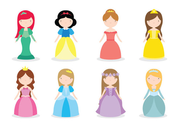 Disney Princess Vectors - vector gratuit #427059