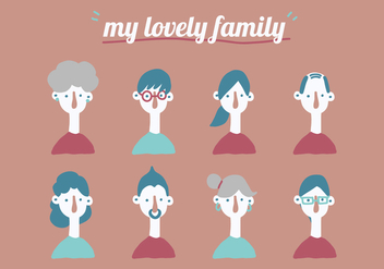 My Lovely Family - vector gratuit #427119