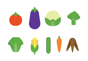 Vegetables Icon Vector - Kostenloses vector #427139
