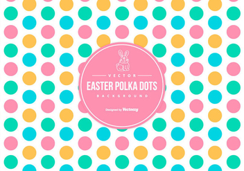Cute Colorful Easter Polka Dot Background - vector gratuit #427279