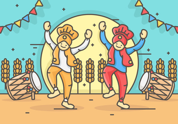 Bhangra Vector Illustration - vector gratuit #427299