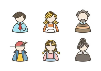 Free Beautiful Family Avatar Vectors - vector #427309 gratis
