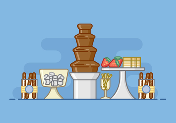 Baby Shower Chocolate Fountain Illustration - Free vector #427319