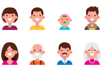 Family Avatar Set - vector #427369 gratis