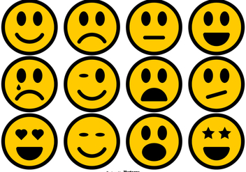 Simple Smiley Icons Collection - Free vector #427379