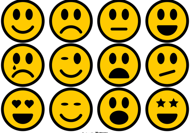Simple Smiley Icons Collection - Kostenloses vector #427379