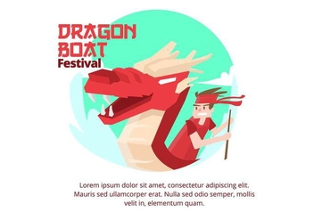 Dragon Boat Festival Background - vector gratuit #427449