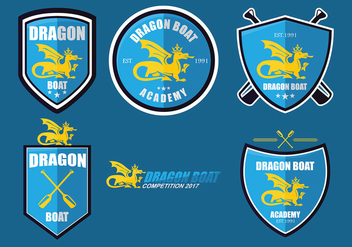 Dragon Boat Academy Logo Set Vector - бесплатный vector #427469
