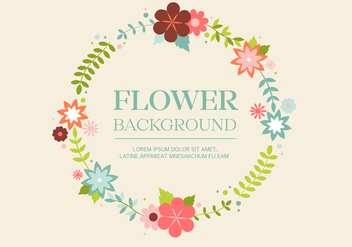 Free Vintage Flower Wreath Background - vector gratuit #427489