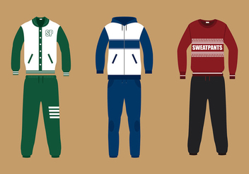 Sweatpants Suit Free Vector - Free vector #427499
