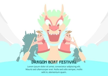 Dragon Boat Festival Background - Free vector #427509