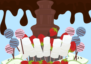 Chocolate Fountain Background Vector - vector #427689 gratis