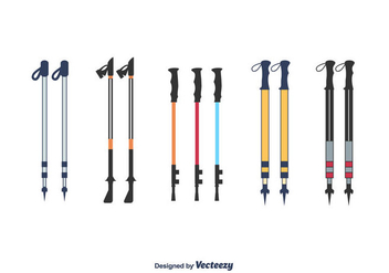 Nordic Walking Poles Vector - бесплатный vector #427759