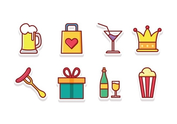 Festival Icon Set - vector #427769 gratis