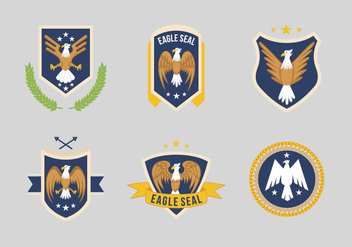 Eagle Seal Logo Vector - бесплатный vector #427799