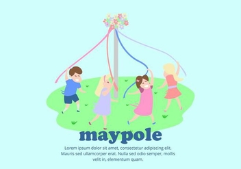 Maypole Background - vector gratuit #427839