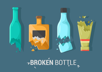 Sets Of Broken Bottle Vector Item - vector gratuit #427989