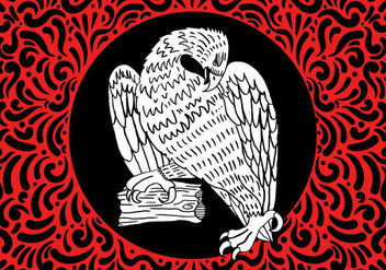 Ornate Hawk Design - vector gratuit #428039