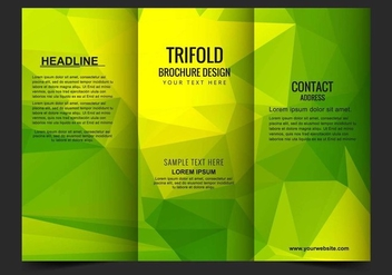 Free Vector Trifold Business Brochure Template - vector #428049 gratis