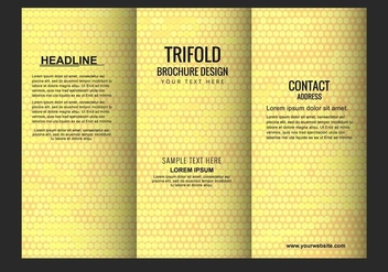 Free Vector Modern Tri Fold Brochure - Free vector #428069