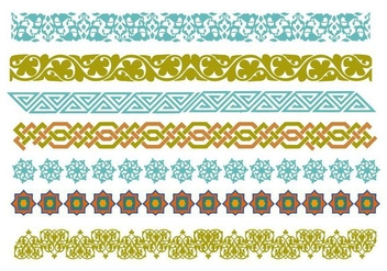 Free Decorative Islamic Ornaments Vector - бесплатный vector #428099