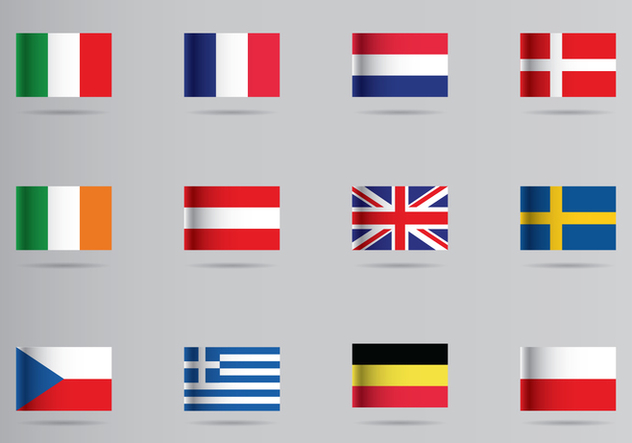 European Flags Icon - vector #428109 gratis