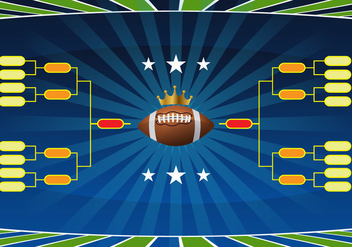 Football Tournament Bracket Vector - vector gratuit #428129