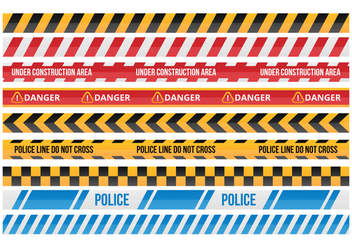 Free Danger Tape Vector Collections - vector #428159 gratis