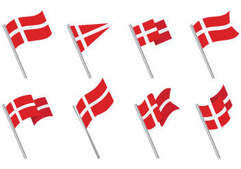 Free Danish Flag Icons Vector - бесплатный vector #428209