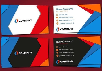 Tarjetas Business Cards Vector - бесплатный vector #428239