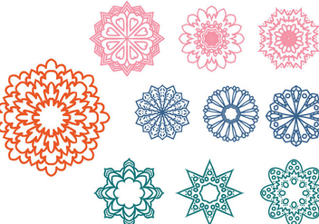 Free Abstract Ornaments Vectors - vector gratuit #428249