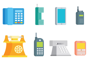 Free Tel Icons Vector - Free vector #428259