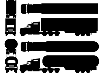 Two Silhouette Camion Types - vector #428269 gratis