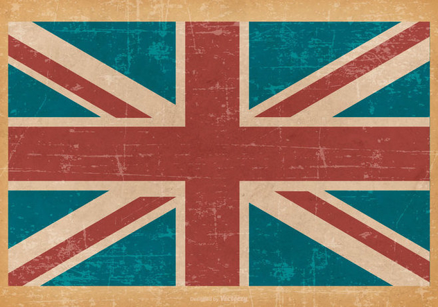 United Kingdom Flag on Old Grunge Background - бесплатный vector #428309