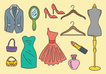 Free Dressing Room Icons Vector - vector gratuit #428339