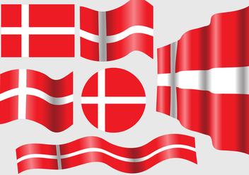 Danish Flag Vector Set - vector gratuit #428349