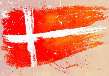 Painted Danish Flag Backdrop Background - vector gratuit #428359
