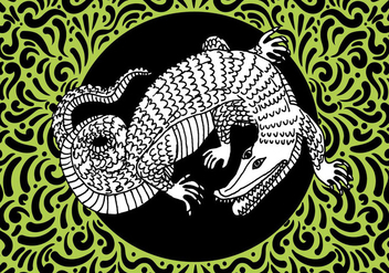 Ornate Reptile Design - vector gratuit #428469