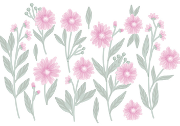 Vector Hand Drawn Floral Compositions - бесплатный vector #428499