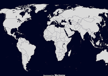 Vector World Map - vector #428529 gratis