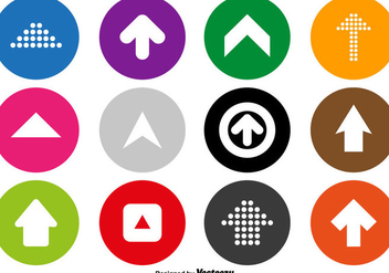 Arrow Icons Vector Set - vector gratuit #428549