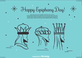 Happy Epiphany Day Background - бесплатный vector #428619