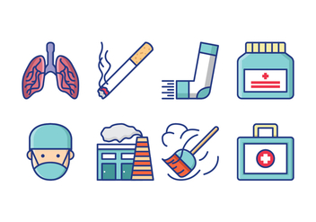 Free Asthma Symptoms Icon Pack - Free vector #428679
