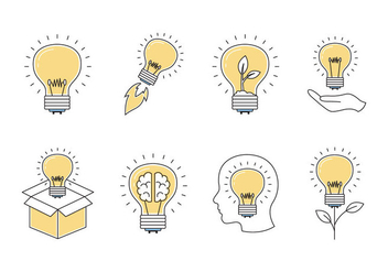 Ampoule Light Bulb Icons - бесплатный vector #428689
