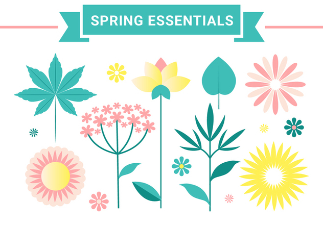 Free Vector Spring Flower Design - Free vector #428699