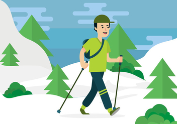 Nordic Walking Vector - vector #428819 gratis