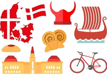 Free Denmark Icons And Landmark Vector - Free vector #428829