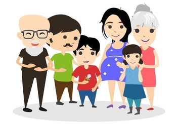 Free Happy Family Vector Illustration - vector gratuit #428849