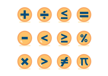 Math Symbol Vector Buttons - бесплатный vector #428859